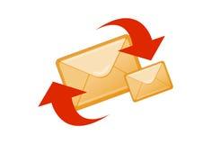 courrier d'e illustration stock