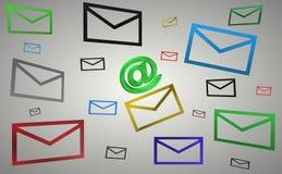 Courrier d'enveloppe Photo stock