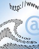 Courrier d'Internet Image stock