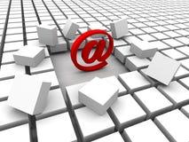 courrier d'Internet Photos libres de droits