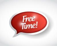 Courrier de bulle de temps gratuit Photo libre de droits