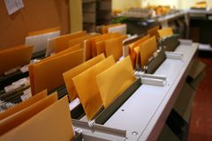 Courrier de bureau Photos stock