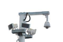 Courrier de caméra de sécurité sur le blanc photographie stock libre de droits