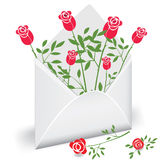 Courrier de fleur Photos stock