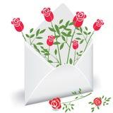 Courrier de fleur Photos stock
