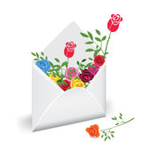 Courrier de fleur Images stock