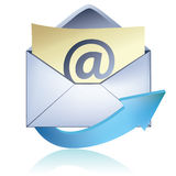 courrier de graphisme d'e Photographie stock