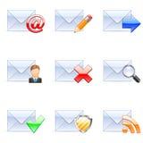 courrier de graphismes d'e Photos stock