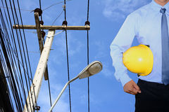 Courrier de l'électricité Photos stock