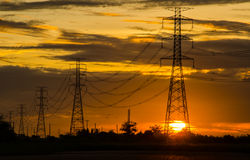 Courrier de l'électricité Image stock