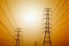 Courrier de l'électricité Photo stock