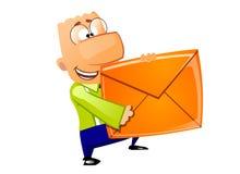 courrier de la distribution d'homme d'affaires Photographie stock libre de droits