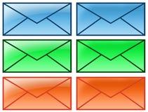 courrier de lettre d'enveloppe Photos stock