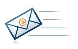 courrier de lettre d'enveloppe d'e Image stock