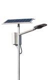 Courrier de réverbères de LED avec la pile solaire sur le fond blanc Image stock