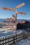 Courrier de signe dans Kangerlussuaq Photos stock