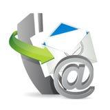 Courrier de téléphone à, contactez-nous Photo stock