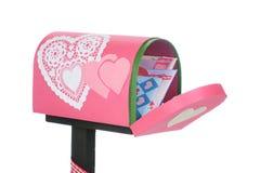 Courrier de Valentine Images stock