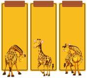 Courrier différent de girafe sur la bannière illustration de vecteur