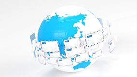 courrier email Fournissez la connectivité dans le monde entier distribution du courrier clips vidéos