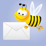 Courrier escargot de `d'abeille illustration de vecteur