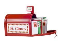 Courrier escargot de Santa' Photos libres de droits