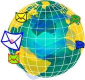 Courrier et monde globe2 Photo libre de droits