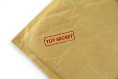 Courrier extrêmement secret avec le timbre rouge Photo libre de droits