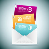 Courrier Infographic d'option Photo stock
