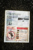 Courrier Laval gazeta Obraz Royalty Free