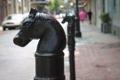 Courrier s'accrochant de cheval image libre de droits