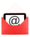 Courrier sur la tablette Image stock