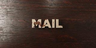 Courrier - titre en bois sale sur l'érable - image courante gratuite de redevance rendue par 3D illustration libre de droits