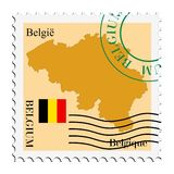 Courrier to/from la Belgique Images libres de droits