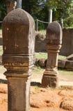 Courriers de Linga dans le temple de Banteay Srei au Cambodge Image stock