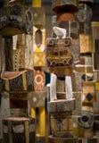 Courriers indigènes d'enterrement de tribus, musée australien de Sydney Photographie stock libre de droits