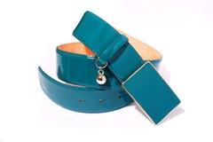 Courroie bleue Photos stock
