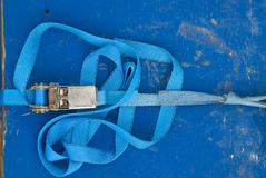 Courroie bleue Photos libres de droits