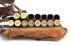 Courroie de munitions de cru Images libres de droits