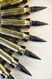 Courroie de munitions de mitrailleuse Images stock