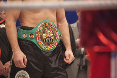 Courroie de WBC sur Vitali Klitschko Photos stock