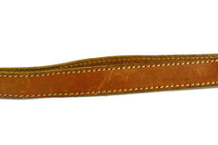Courroie en cuir de Brown Image stock