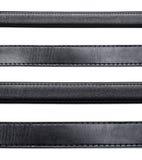 Courroie en cuir noire photographie stock