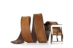 Courroie en cuir pour les hommes. Images stock
