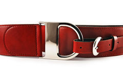 Courroie en cuir rouge Photographie stock libre de droits