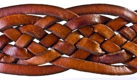 Courroie en cuir tissée Photo stock