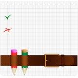 Courroie et crayon Image libre de droits