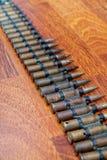 Courroie Machine-gun avec des cartouches Image stock