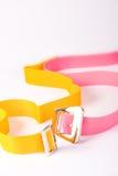 Courroies colorées photographie stock libre de droits