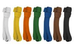 Courroies colorées Photos stock